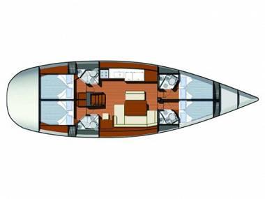 Sun Odyssey 49i (CBM Realtime) - Sukosan - Charter hajókHorvátország