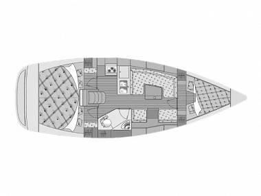 Elan 344 Impression (CBM Realtime) - Kastel Gomilica - Czarter statki Chorwacja