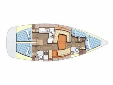 Elan 434 Impression (CBM Realtime) - Kastel Gomilica - Charter ships Croatia