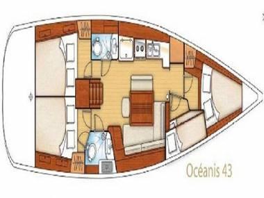 Oceanis 43 (CBM Realtime) - Сегет Доньи - Чартер ХорватияХорватия