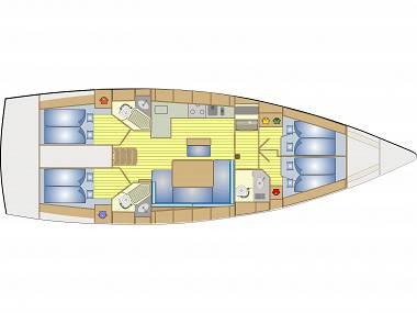 Bavaria Cruiser 46 (CBM Realtime) - Trogir - Charter navi Croazia