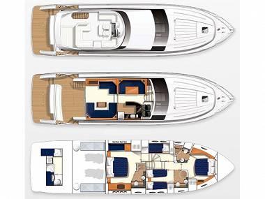 Princess 62 (CBM Realtime) - Dubrovnik - Charter navi Croazia