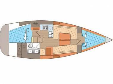 Elan 340 (CBM Realtime) - Biograd - Charter ships Croatia