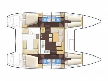 Lagoon 42 (CBM Realtime) - Sukosan - Charter navi Croazia