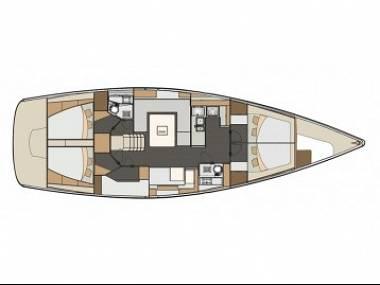 Elan 50 Impression (CBM Realtime) - Zadar - Charter plavidlá Chorvátsko