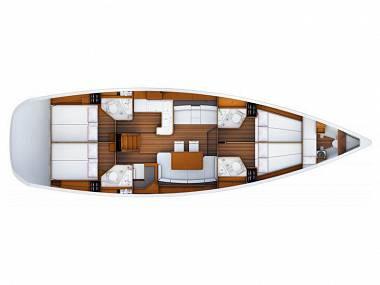 Jeanneau 53 (CBM Periodic) - Split - Charter plovila Hrvaška