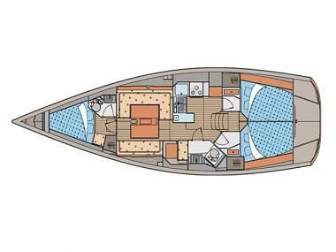 Elan 40 (CBM Periodic) - Sukosan - Charter boten Kroatië