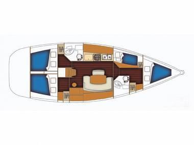 Cyclades 43.4 (CBM Periodic) - Sukosan - Charter ships Croatia