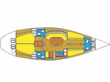 Elan 431 (CBM Periodic) - Sukosan - Charter Boote Kroatien