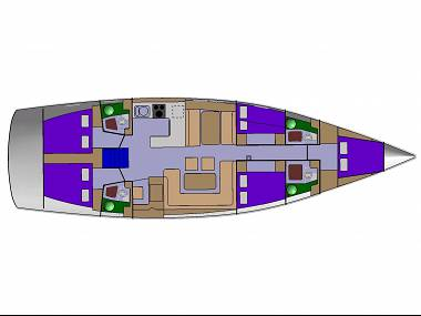 D&D Kufner 54 (CBM Realtime) - Trogir - Charter ships Croatia