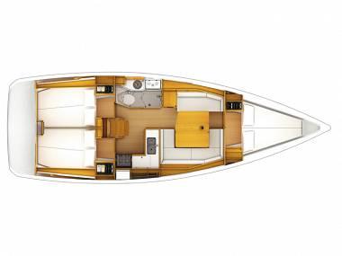 Sun Odyssey 389 (CBM Realtime) - Sibenik - Charter Boote Kroatien