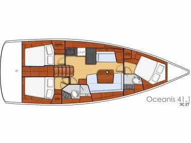 Oceanis 41.1 (CBM Realtime) - Kastel Gomilica - Charter boten Kroatië