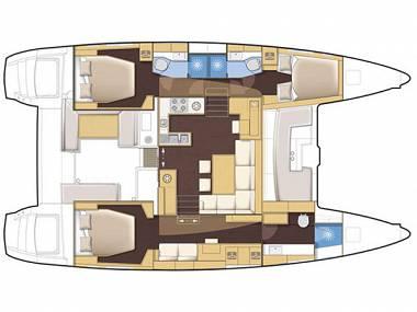 Lagoon 450 (CBM Realtime) - Seget Donji - Charter Boote Kroatien