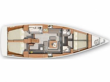 Hanse 455 (CBM Realtime) - Kastel Gomilica - Charter Boote Kroatien