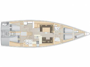 Hanse 588 (CBM Realtime) - Kastel Gomilica - Charter plovila Hrvaška