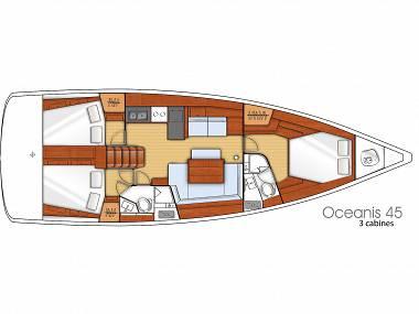 Oceanis 45 (CBM Realtime) - Sukosan - Charter ships Croatia