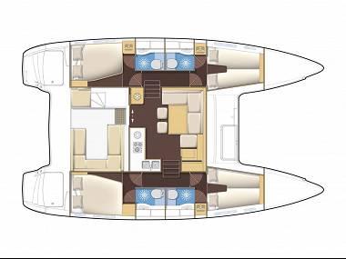 Lagoon 400 S2 (CBM Realtime) - Split - Charter Boote Kroatien