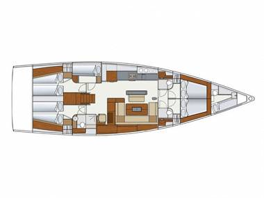 Hanse 575 (CBM Realtime) - Seget Donji - Charter Boote Kroatien