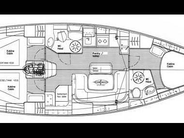 Bavaria 39 Cruiser (CBM Realtime) - Trogir - Charter Boote Kroatien