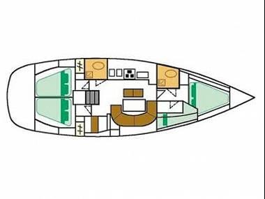 Oceanis 411 (CBM Realtime) - Primosten - Charter Boote Kroatien