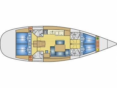 Sun Odyssey 49i (CBM Realtime) - Skradin - Charter ships Croatia
