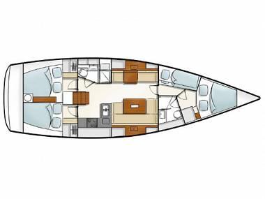 Hanse 430 (CBM Realtime) - Pula - Charter plavidlá Chorvátsko
