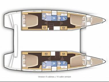 Lagoon 42 (CBM Realtime) - Dubrownik - Czarter statki Chorwacja
