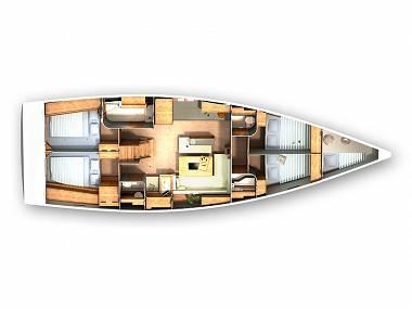 Hanse 505 (CBM Realtime) - Sibenik - Charter Boote Kroatien