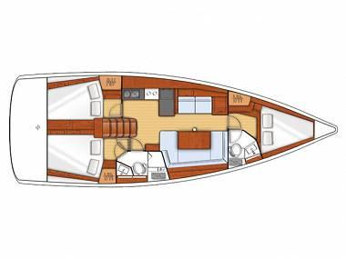 Oceanis 41.1 (CBM Realtime) - Zadar - Charter boten Kroatië