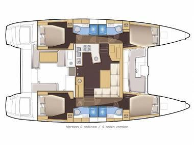 Lagoon 450 Sport (CBM Periodic) - Split - Charter boten Kroatië