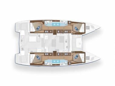 Lagoon 50 (CBM Realtime) - Seget Donji - Charter boten Kroatië