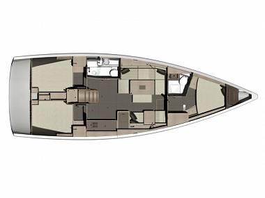 Dufour 412 Grand large (CBM Realtime) - Mali Losinj - Charter boten Kroatië