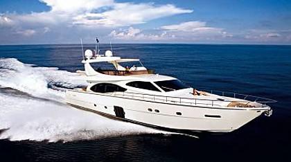 Ferretti 780 (code:PLA 711) - Split - Charter hajókHorvátország