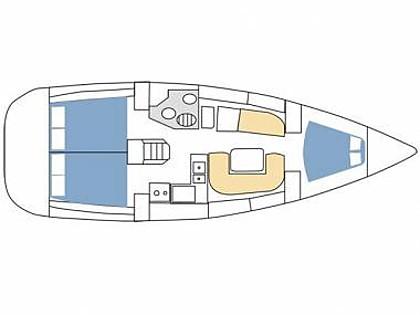 Sun Odyssey 36i (CBM Realtime) - Rogoznica - Charter plavidlá Chorvátsko