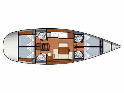 Sun Odyssey 49i (CBM Realtime) - Rogoznica - Charter hajókHorvátország