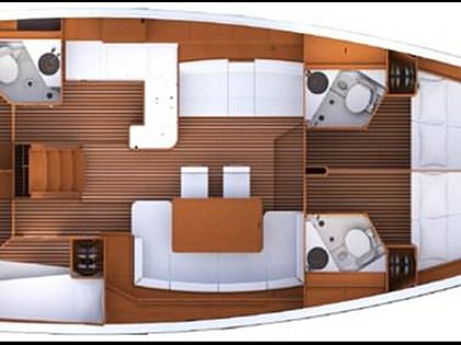 Jeanneau 53 (CBM Realtime) - Seget Donji - Charter embarcation Croatie
