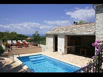 6024 - Mirca - Hiše za počitek, vile Hrvaška - H(6+2): bazen (hiša in okolica)