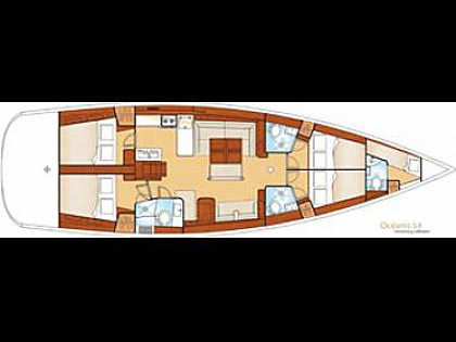 Beneteau Oceanis 54 (code:CRY 140) - Primosten - Charter boten Kroatië - Beneteau Oceanis 54 (code:CRY 140):
