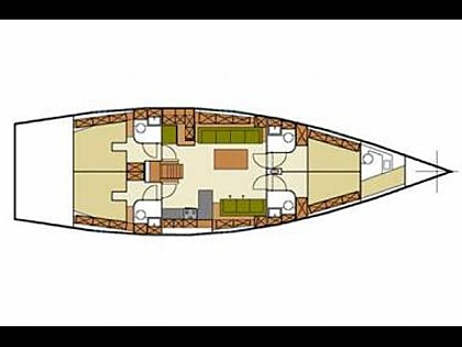 Hanse 540 (code:CRY 142) - Kastel Gomilica - Charter boten Kroatië - Hanse 540 (code:CRY 142):