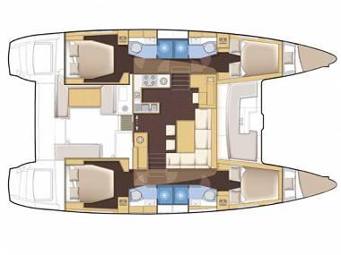 Lagoon 450 (CBM Realtime) - Sukosan - Charter ships Croatia - Lagoon 450 (CBM Realtime):