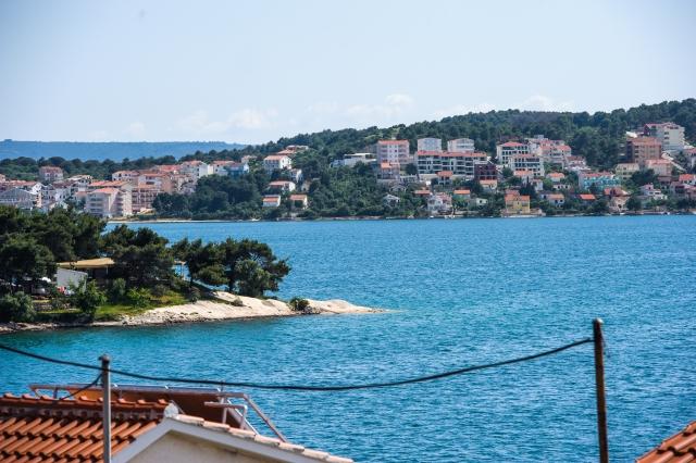 001TROG - Trogir - Appartements Croatie - A1(2+2): vue de la terrasse