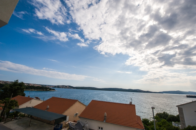 001TROG - Trogir - Appartements Croatie - A5(2+2): vue du balcon