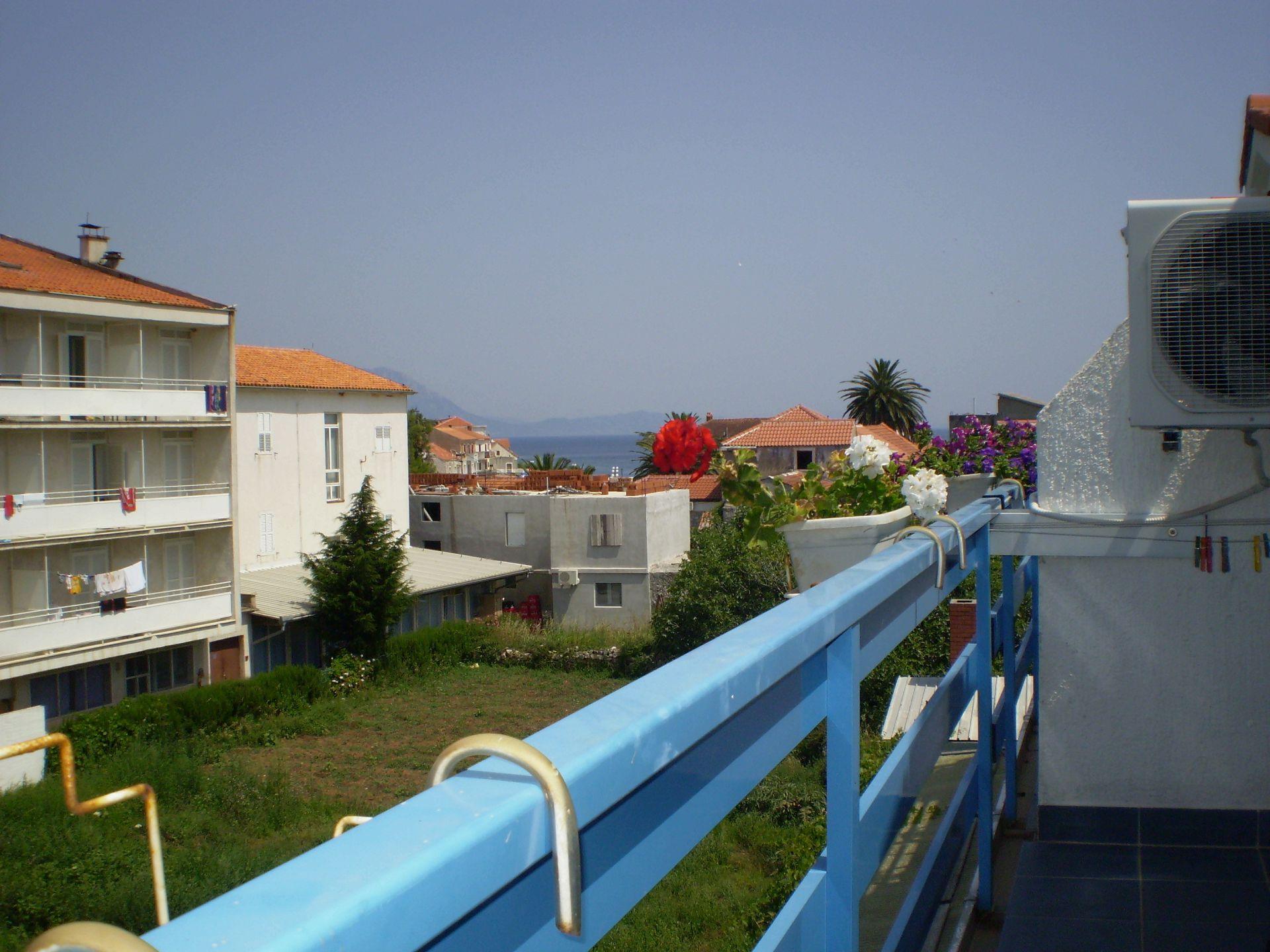 003SUCU  - Sucuraj - Appartementen Kroatië - SA13(3): uitzicht vanaf balkon