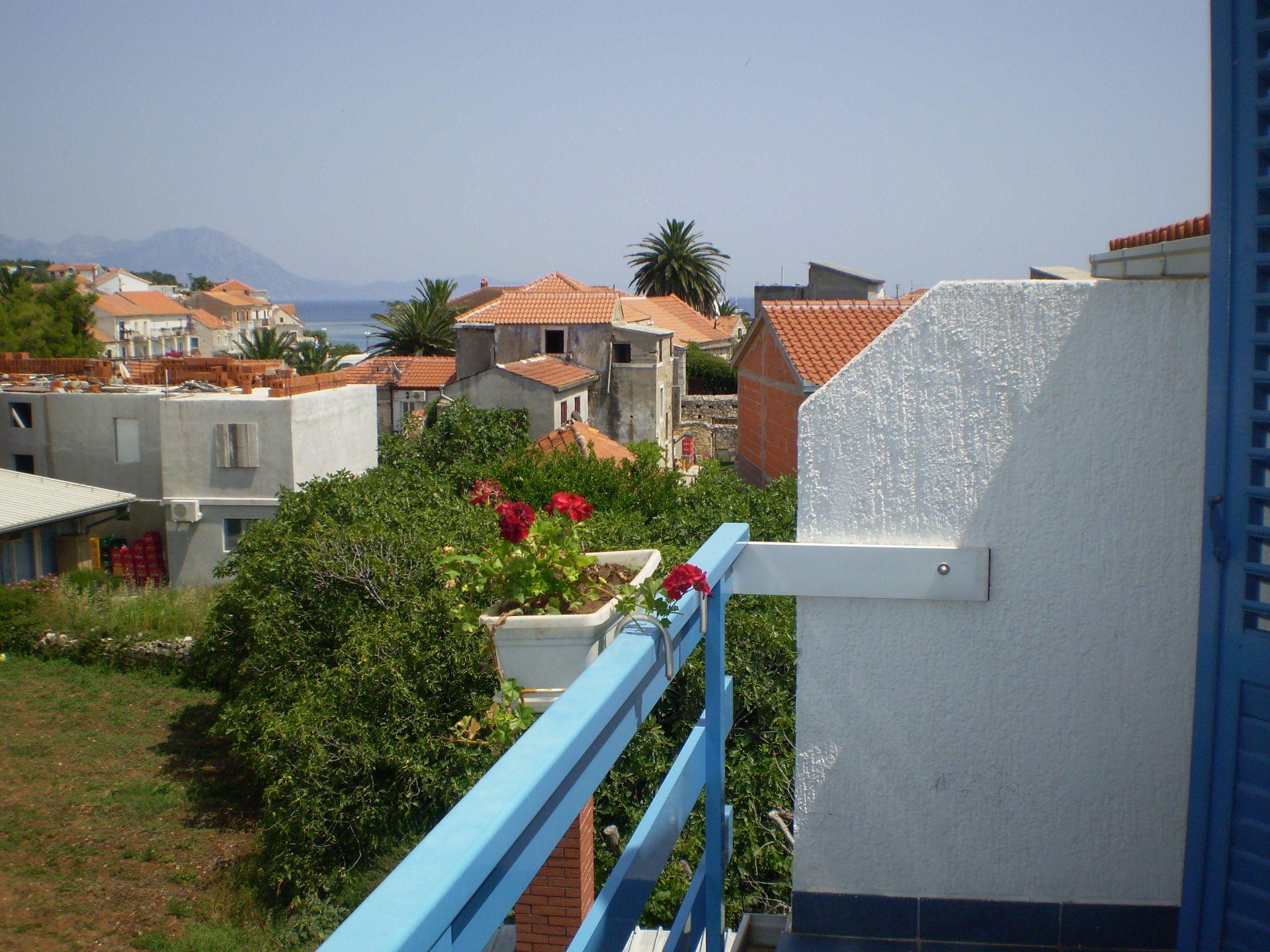 003SUCU  - Sucuraj - Appartementen Kroatië - A15(3+2): uitzicht vanaf balkon