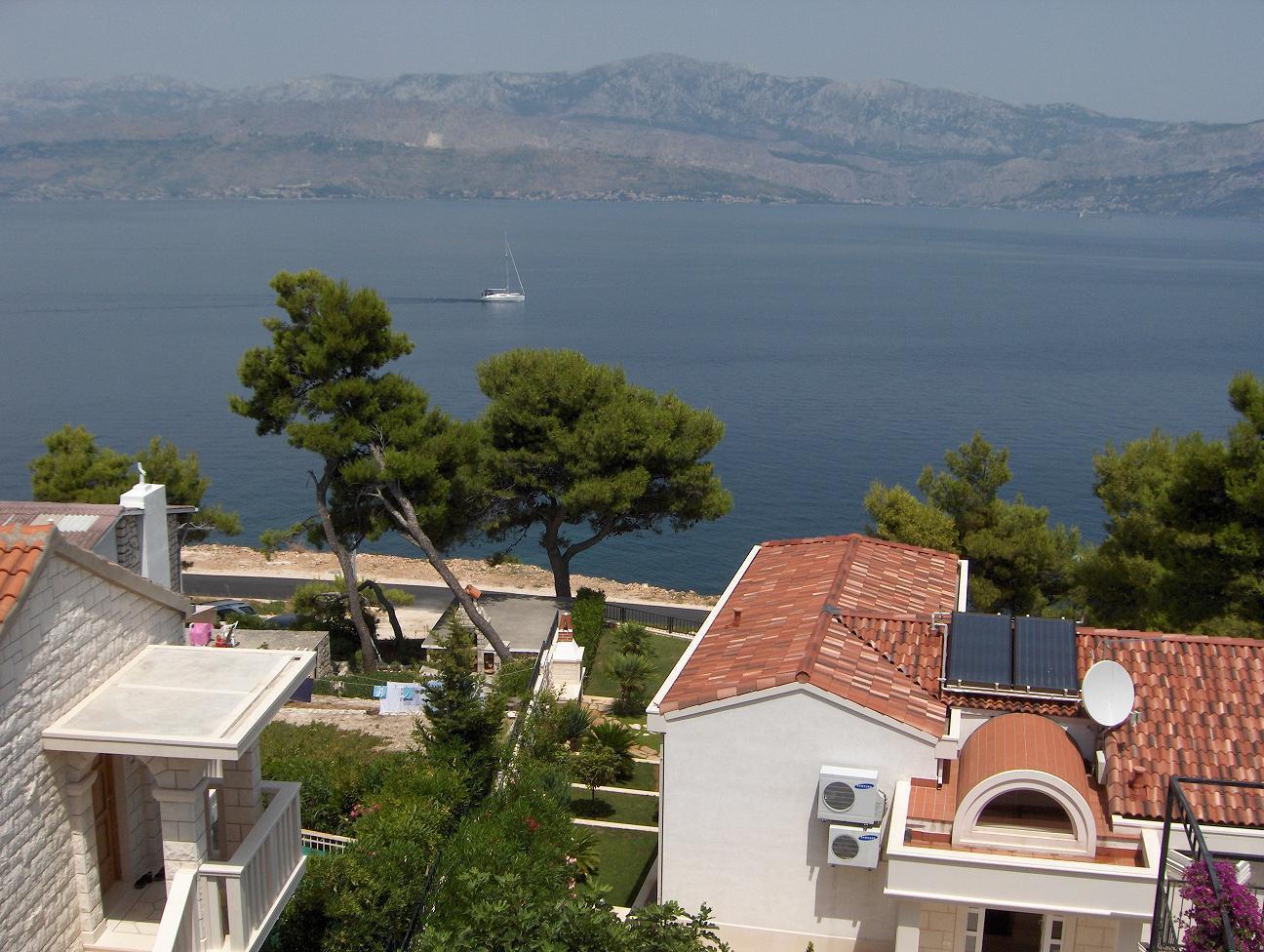 1682  - Postira - Ferienwohnungen Kroatien - A1(3+2): Aussicht vom Fenster