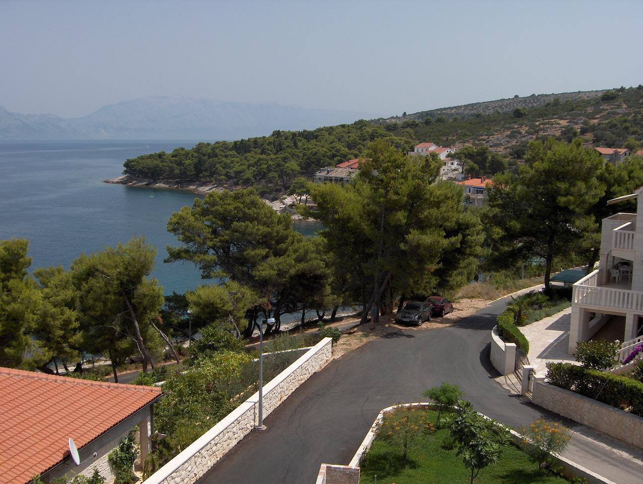 1682  - Postira - Ferienwohnungen Kroatien - A1(3+2): Aussicht vom Terasse