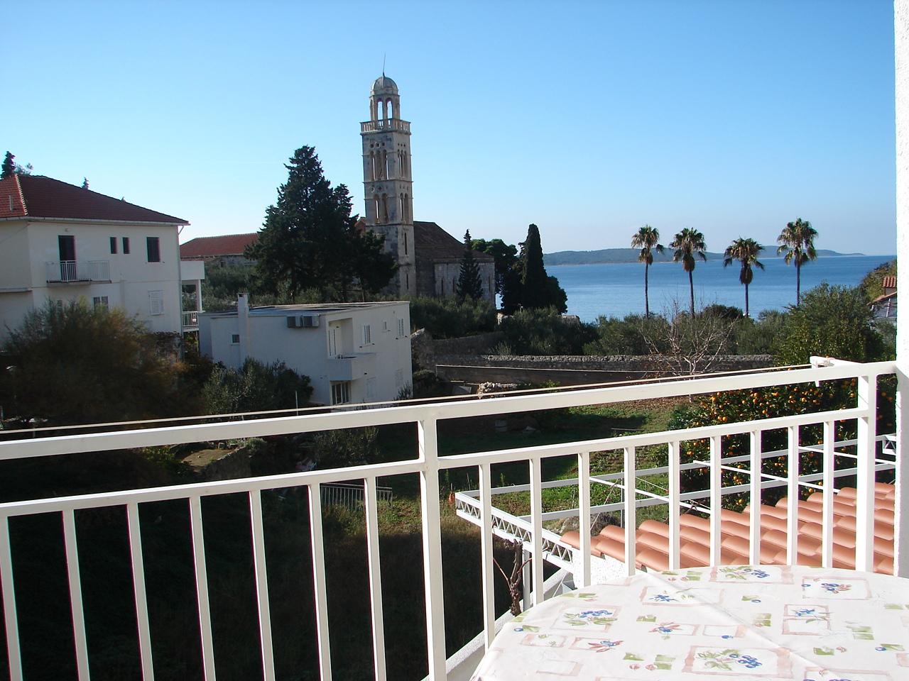 04203HVAR - Hvar - Appartementen Kroatië - A1(3): balkon