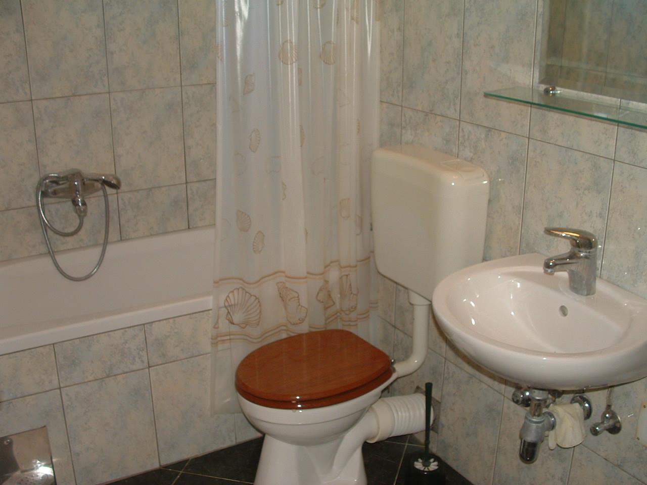 Ante Č - Vinisce - Appartementen Kroatië - A5(2+2): badkamer met toilet