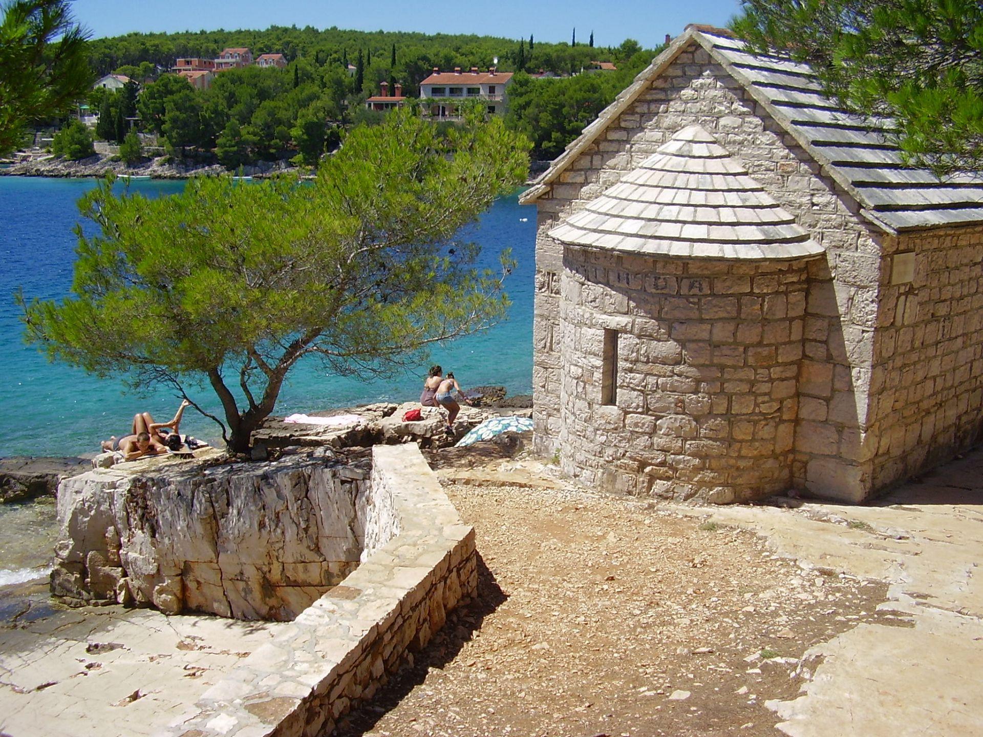 Denis - Baai Osibova (Milna) - Vakantiehuizen, villa´s Kroatië - strand