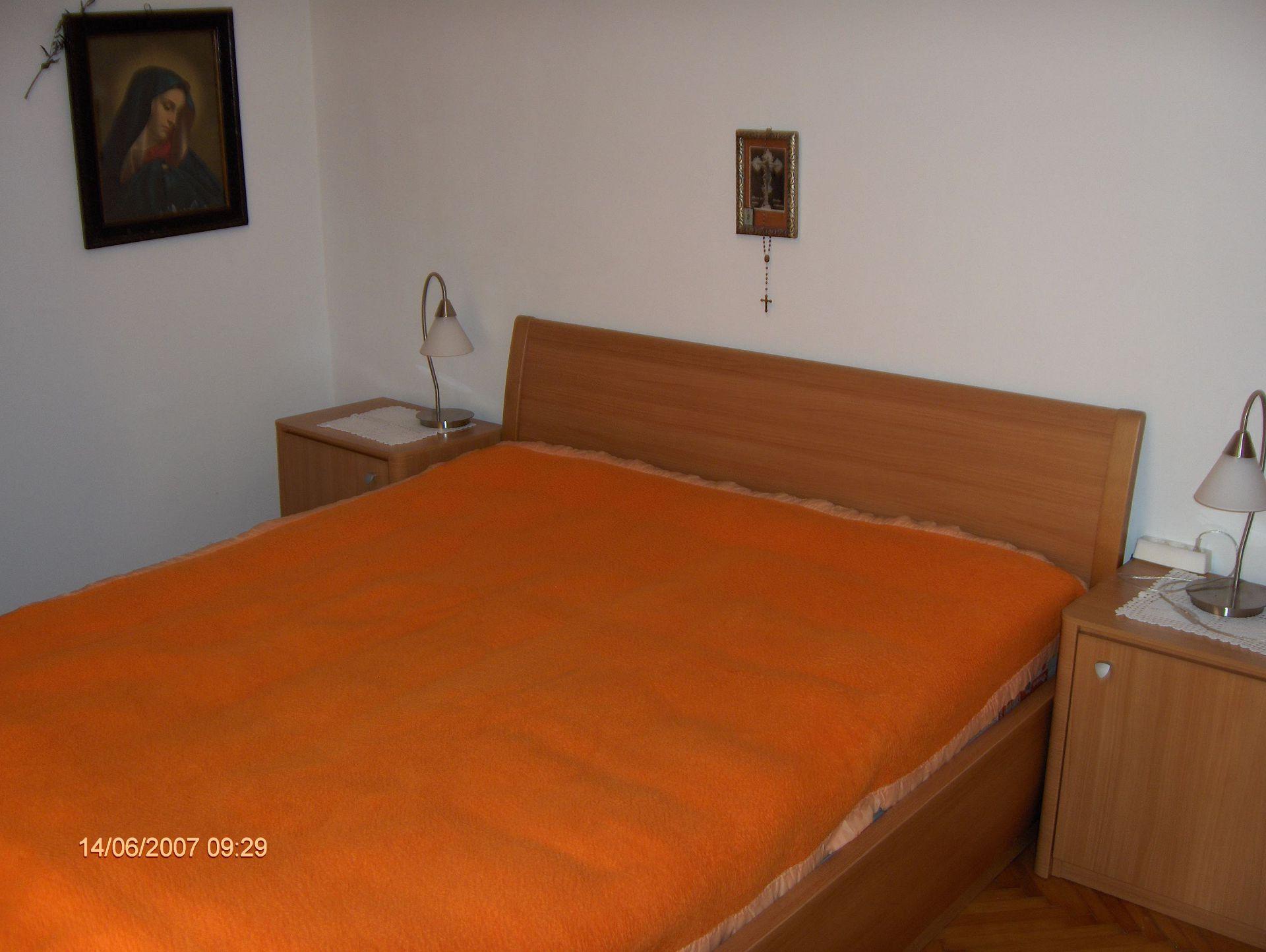 0203VRBO - Vrboska - Appartementen Kroatië - R2(2): slaapkamer